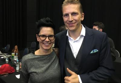 Sabine Votteler mit Tobias Beck